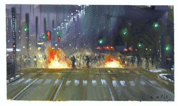 Guache na Avenida Paulista - Davi Calil|