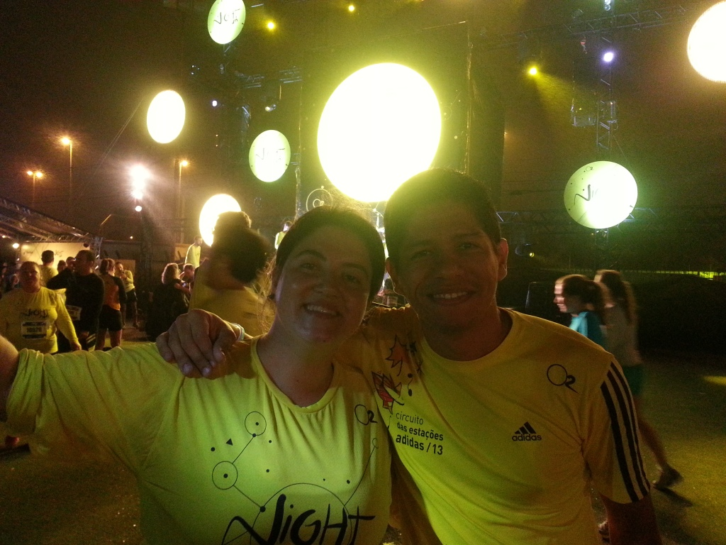 Claudia Nuzzo e eu na Night Run 2013