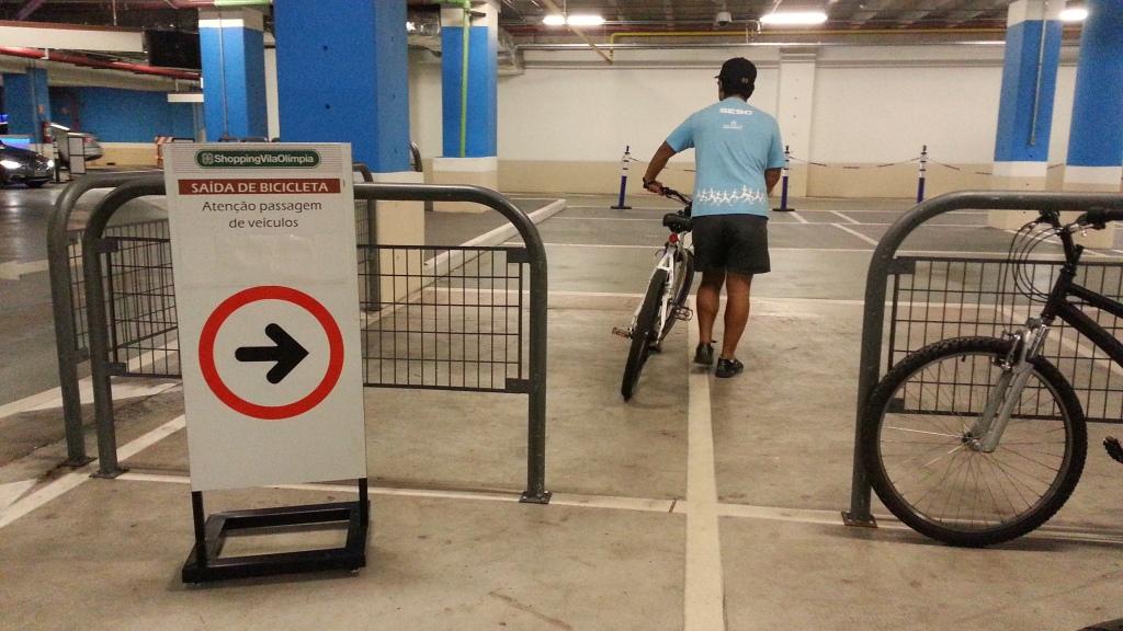 Shopping Vila Olimpia de parabéns pela acessibilidade com bikes - Mobilidade Urbana