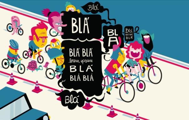 Ciclofaixa - Família e amigos que decidem pedalar lado a lado para bater papo