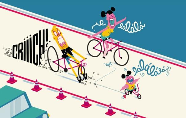 Ciclofaixa  - Levar crianças muito pequenas para pedalar entre os grandes