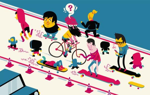 Ciclofaixa - Andar na contramão e praticar outras modalidades de esporte