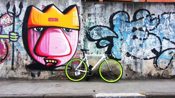 Fixed Gear ride #Streetart