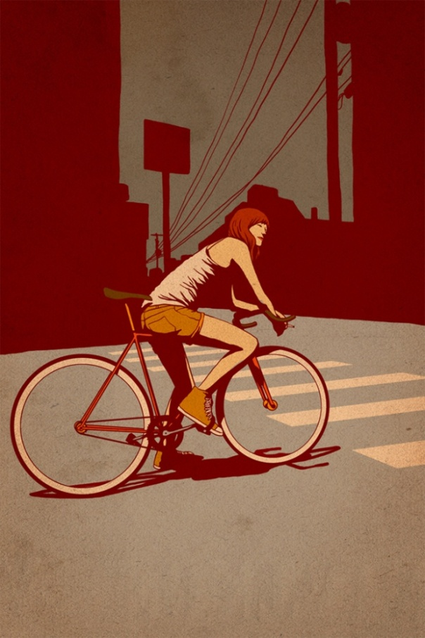 Fixed Gear Illustration